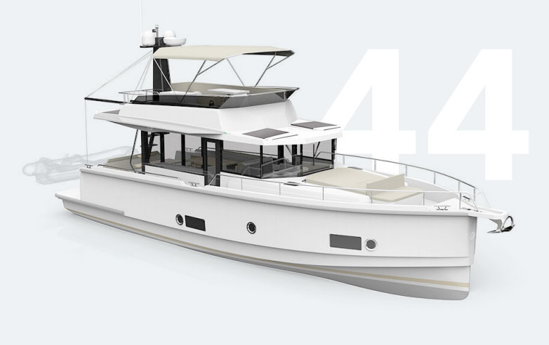 Seafaring 44 fly bridge